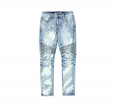 Джинсы Crysp Skywalker Biker Blue Bleach